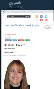 Terry White's Tech Blog featuring Sandi Eveleth