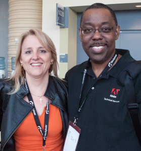 Adobe and Photoshop Evangelist, Terry White, and Me