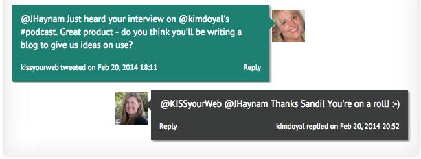 The second Kim Doyal Tweet