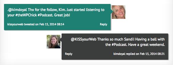 The first Kim Doyal Tweet