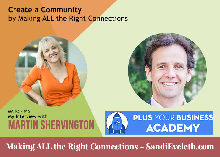Martin Shervington - Plus Your Business Academy and We Dig Community
